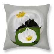 Pond Flower Orb Throw Pillow
