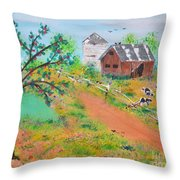 Pond Hill Road Throw Pillow