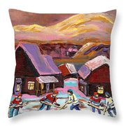 Pond Hockey 1 Throw Pillow