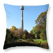 Autumn Colors At A Pond Throw Pillow