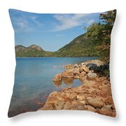Pond In Maine Throw Pillow