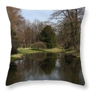 Pond In The Park Throw Pillow