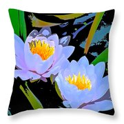 Pond Lily 17 Throw Pillow