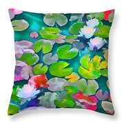Pond Lily 5 Throw Pillow