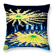 Pond Lily Pad Abstract Throw Pillow