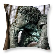 Pondering The Question Throw Pillow by William Selander