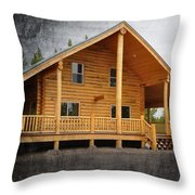 Pond's Cabin Throw Pillow