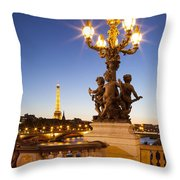Pont Alexandre IIi - Paris Throw Pillow