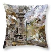 Pont Alexandre Paris Throw Pillow