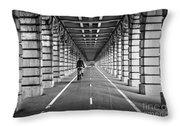 Pont De Bercy Throw Pillow