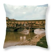 Pont De Vecchio On The Arno Throw Pillow