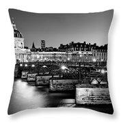 Pont Des Arts And Institut De France / Paris Throw Pillow