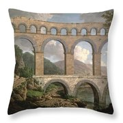 Pont Du Gard, Nimes Throw Pillow