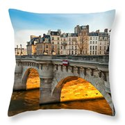 Pont Neu - Paris  Throw Pillow