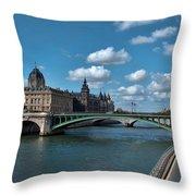 Pont Notre Dame Throw Pillow