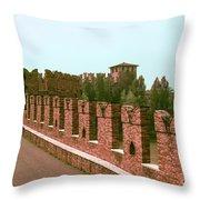 Pont Scaligero Throw Pillow