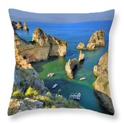 Ponta De Piedade Coast II Throw Pillow