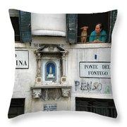 Ponte Del Fontego.venice Throw Pillow