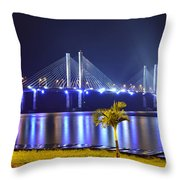 Ponte Estaiada De Aracaju - Construtor Joao Alves Throw Pillow