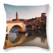 Ponte Pietra - Verona Throw Pillow