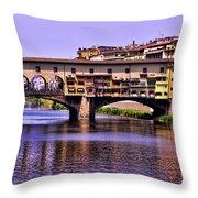 Ponte Vecchio Bridge - Florence Throw Pillow