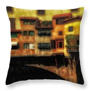 Ponte Vecchio Firenze Throw Pillow