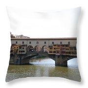Ponte Vecchio I Throw Pillow