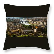 Ponte Vecchio Late Afternoon Throw Pillow by Jon Berghoff
