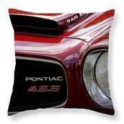 Pontiac 455 Throw Pillow