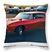 Pontiac Gto - 1964 1965 1966 1967 1968 Throw Pillow