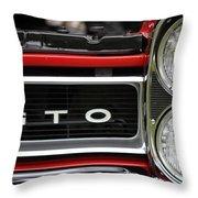 Pontiac Gto Front Throw Pillow