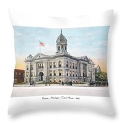Pontiac Michigan - Ponitiac Court House - 1910 Throw Pillow