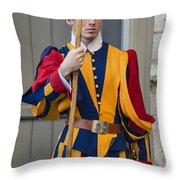 Pontifical Swiss Guard Throw Pillow