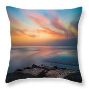 Ponto Jetty Sunset - Square Throw Pillow