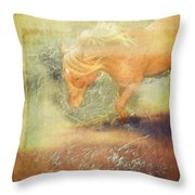 Pony In The Grasses Throw Pillow