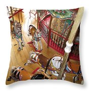 Pony Race Throw Pillow