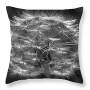 Poof - Black And White Throw Pillow