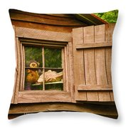 Pooh In The Attic Throw Pillow