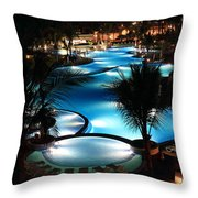 Pool At Night Throw Pillow
