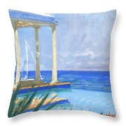 Pool Cabana Morning Throw Pillow