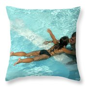 Pool Couple 9717b Throw Pillow