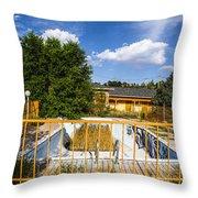 Pool Garden Throw Pillow
