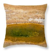 Pool In Upper Geyser Basin In Yellowstone National Park Throw Pillow
