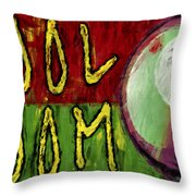 Pool Room Sign Abstract Throw Pillow