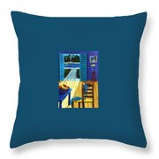 Pool Side Suite Throw Pillow