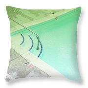 Pool Steps Shallow End Throw Pillow