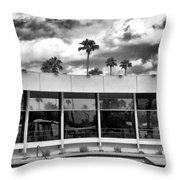 Pool Storm Palm Springs Throw Pillow