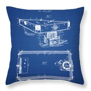 Pool Table Patent From 1892 - Blueprint Throw Pillow