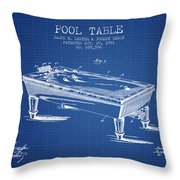 Pool Table Patent From 1901 - Blueprint Throw Pillow