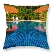 Pool Time Throw Pillow